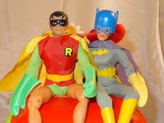 Robin and Batgirl from Mego's World's Greatest Super Heroes line.