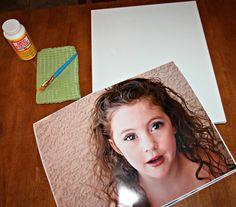 Transferir foto a lienzo  http://aubutfamily.com/2012/07/6662/