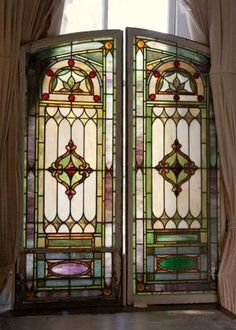 Antique Stained Glass Window by frances