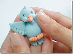 STEP BY STEP for this cutie and his friends. I'm going to add the cat to a necklace.  ~ Polymer Clay Tutorials