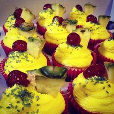Piña Colada Cocktail Cupcakes
