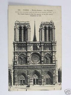 PARIS, FRANCE, NOTRE DAME CATHEDRAL, 1920's POSTCARD