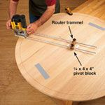 3 steps to routing large circles