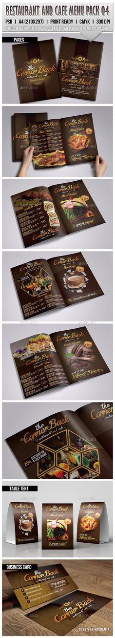 Restaurant & Cafe Menu Pack Template #design Download: http://graphicriver.net/item/restaurant-cafe-menu-pack-04/9711797?ref=ksioks