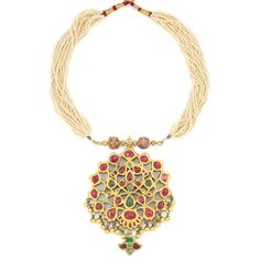 Indian Jewellery and Clothing: Antique pendant with rubies..