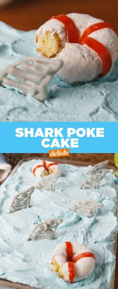 Shark Attack Poke Cake