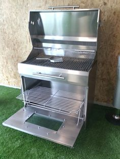Asador Lounge Design, Grill Design, Custom Bbq Pits, Camping Cooker, Charcoal Bbq Grill, Fire Pit Grill, Diy Grill, Fire Pit Seating, Stainless Steel Grill