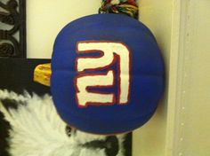 Daddy's NY Giants pumpkin I made!