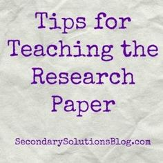 Teaching how to write a research paper
