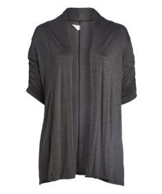 Look what I found on #zulily! Gray Open Cardigan - Plus #zulilyfinds