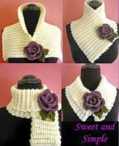 New Free Crochet cowl flower Suggestions PLEASE NOTE: This listing is for a PDF crochet pattern which can be used to make the pictured cape, Col Crochet, All Free Crochet, Crochet Basics, Easy Crochet Patterns, Crochet Shawl, Crochet Hooks, Knitting Patterns, Scarf Patterns, Simple Crochet