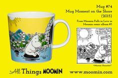Moomin summer mug 2015 – Moment on the shore Moomin Mugs, Trays, In This Moment, History, Tableware, Summer, Historia, Dinnerware, Summer Time