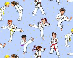 Action Kids Karate Fabric