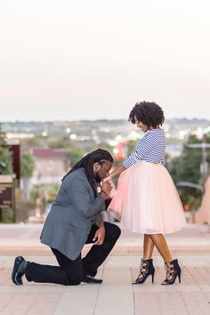 Real Engagements {Texas}: Taevia & Christopher! - Blackbride.com