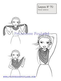 Comment faire pour nouer et porter un foulard de façon moderne et tendance autour du cou casual chic avec du style pour homme et femme
