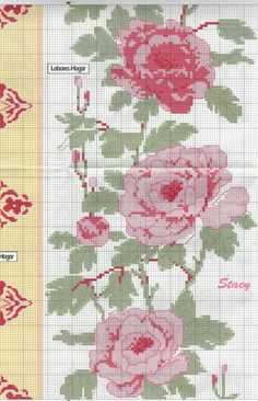 Roses and Peonies: tablecloth and pillow covers (5 of 7) | Gallery.ru | Labores del Hogar #629 | tymannost