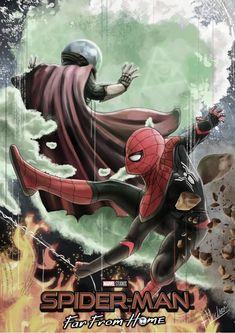 Marvel Comics Art, Marvel Films, Marvel Characters, Marvel Avengers, Parker Spiderman, Spiderman Art, Amazing Spiderman, Iron Man Cartoon, Mysterio Marvel