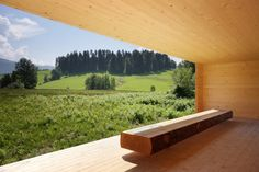 Bernardo Bader & Paul Seurer - Moor Room, Krumbach Via. Space Architecture, Amazing Architecture, Outdoor Rooms, Outdoor Living, Baumgarten, Compact House, Arch House, House In The Woods, Open Plan