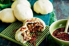 Fragrant spiced pork shoulder gets wrapped in soft white steamed buns for an updated take on this yumcha classic.