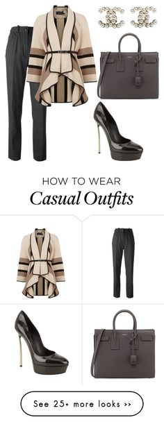 """Casual"" by kamiren on Polyvore featuring Chanel, Karen Millen, Casadei and Yves Saint Laurent"