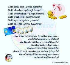 Deutsch Language, German Language, English, Education, Languages, Germany, Bank Statement, Learn German, Save My Money