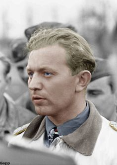 """Walter """"Gulle"""" Oesau (28 June 1913 – 11 May 1944) was a German World War II fighter ace served on all fronts, Oesau was aged 30 at the time of his death. He had a total of 127 kills gained over 300 missions. 27 were Spitfires, 14 four-engined bombers, 44 were scored on the Eastern front and 9 in the Spanish Civil War. In recognition of his record, JG 1 received the title Oesau in honor of its fallen Geschwaderkommodore."""