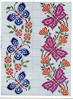 Thrilling Designing Your Own Cross Stitch Embroidery Patterns Ideas. Exhilarating Designing Your Own Cross Stitch Embroidery Patterns Ideas. Butterfly Cross Stitch, Cross Stitch Bird, Cross Stitch Borders, Cross Stitch Flowers, Cross Stitch Charts, Cross Stitch Designs, Cross Stitching, Cross Stitch Embroidery, Embroidery Patterns