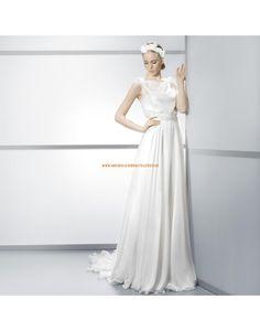 Klassische ärmellose Brautkleider aus Chiffon mit Schärpe- Jesús Peiró