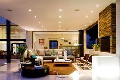 Decor Salteado - Blog de Decoração e Arquitetura : Casa moderna e integrada linda! Aprecie a arquitetura e a decoração!