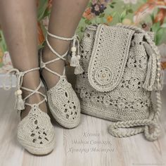 Купить Льняные сандали и сумка комплект в интернет магазине на Ярмарке Мастеров