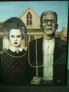 """""""What might have been Horror take on American Gothic by Beatntrash,.."""""""