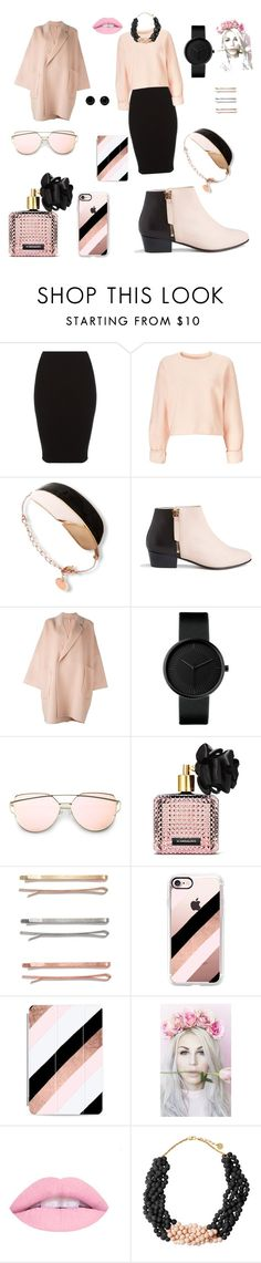 """""""Pink and black for women 🌸◼️"""" by saranda-zogaj ❤ liked on Polyvore featuring Miss Selfridge, Nine to Five, Helmut Lang, Victoria's Secret, Madewell, Casetify, Madame Melon and Givenchy"""