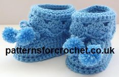 Booties for Best Free Crochet Pattern from http://www.patternsforcrochet.co.uk/booties-for-best.html #freecrochetpatterns #patternsforcrochet