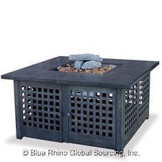 Blue Rhino LP Gas Outdoor LP Firebowl With Tile Mantel GAD920SP