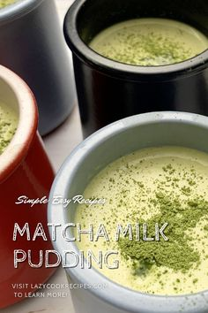 Matcha pudding is one of the easiest desserts to make with simple ingredients. It is a matcha flavoured milk pudding with silky and creamy texture! This is a great dessert that you could easily make at home. It is an authentic Japanese cuisine recipe with simplified steps and ingredients required! Check out our website where could you find the written step by step recipes with images and videos to teach you how to become a better cook at home! Easy To Make Desserts, Great Desserts, Food To Make, Fun Cooking, Cooking Time, Cooking Recipes, Matcha Milk, Flavored Milk