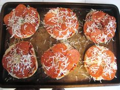 4 bagels, split in half 1 cup pizza sauce 2 cups grated mozzarella cheese sliced pepperoni Instructions Preheat the oven to 475°. Place the bagel halves on a baking sheet. Spread the sauce over the surface of the bagels. Sprinkle a small amount of cheese over the sauce. Layer the pepperoni over the cheese. Add more cheese, according to taste. Bake for 8 to 10 minutes or until the cheese is bubbly and starting to brown. Serve immediately. Make your own pizza bagels. #lunch #pizza