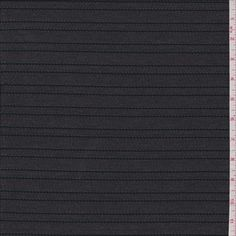 Charcoal Grey Stripe Stretch Denim - 29284 - Fabric By The Yard At Discount Prices