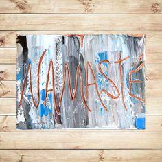 Original painting, Yoga Decor, OM Spiritual art, Painting on canvas, Zen Art decor, Namaste,quotes, artwork, art, gift for yogi,by Katey