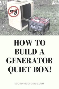 DIY How to Build a Generator Soundproof Enclosure. Generator Shed, Emergency Generator, Portable Generator, Power Generator, Soundproofing Walls, Soundproof Box, Diy Wood Projects, Woodworking Projects, Sound Absorbing