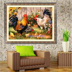 5D Diamond Painting Farm Chicken Coop Embroidery Cross Stitch Kit DIY Home Decor Arts Crafts Sewing MAR14_45 #Affiliate