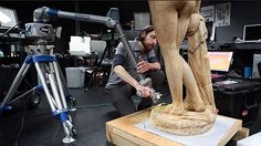 Scanning Hiram Powers' Greek Slave