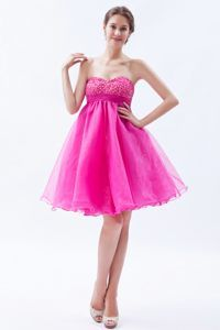 Richmond Beading Bust Hot Pink A-line Sweetheart Dresses for Wedding Cocktail Party
