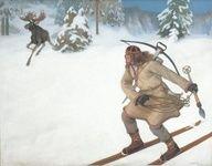 Lemminkäinen ja hiiden hirvi  Väinö Hämäläinen  1902 oil