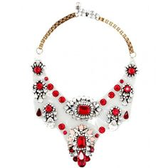 tupobrealma:      SHOUROUK necklace ❤ liked on Polyvore (see more clear jewelry)
