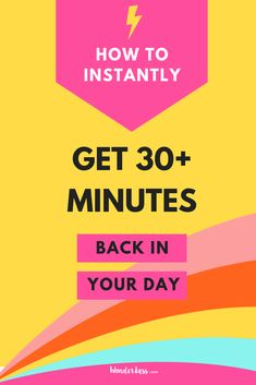 There's SO MANY THINGS you can do with an extra 30 minutes in your day! Click through for this short + actionable episode to learn how you can INSTANTANEOUSLY get back some time in your day, EVERY day! #entrepeneurtips #productivitytips #productivityhack