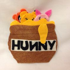 Felt Finger Puppet Winnie the Pooh and by CourtneyFeltCreation