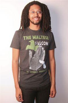 The Maltese Falcon book cover t-shirt | Outofprintclothing.com