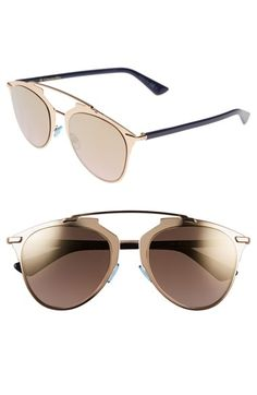 Dior 'Reflected' 52mm Sunglasses available at #Nordstrom