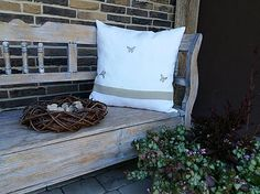 Linen pillow by shabby.romantic / Ľanový vankúš Linen Elegancy