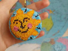 Day and Night Keychain Sun and moon Bag Charm Car accessories Handmade keychain Beaded key chain Handmade keyring Gift for her Original gift